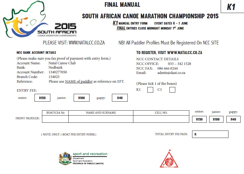 SA MARATHON ENTRY FORM AND INFO FLYER – 6 AND 7 JUNE 2015 ...